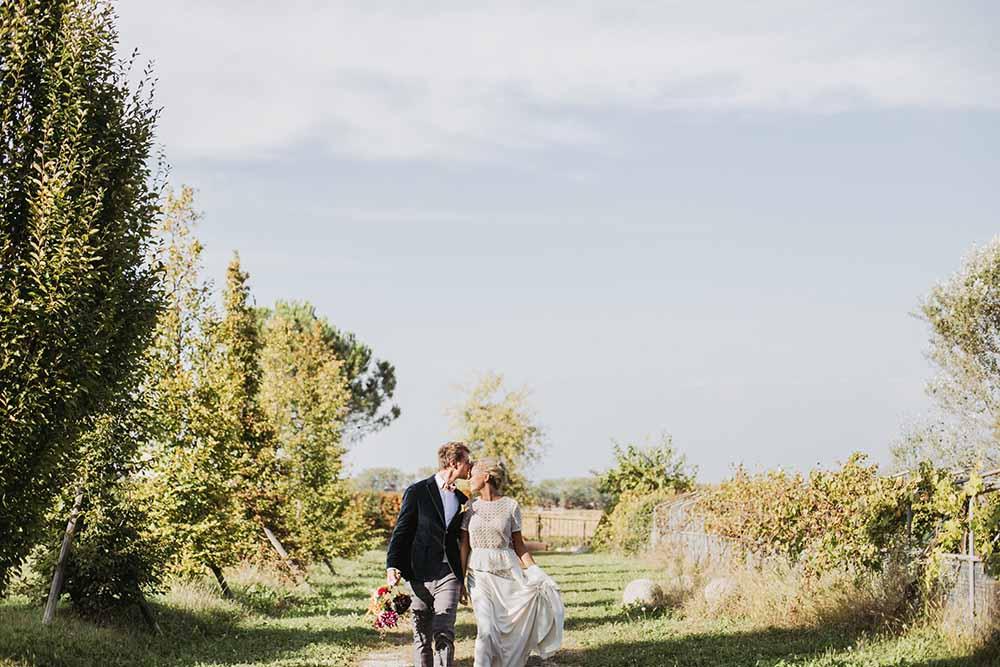 Coppia di sposi presso fondobrugarolo